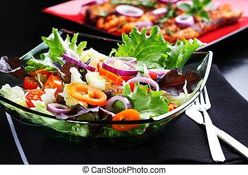 groente, slaatje, farmer