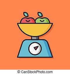 groente, vector, slaatje, pictogram