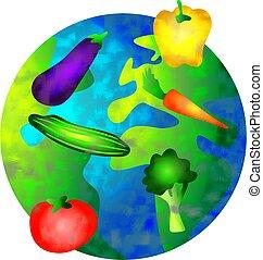 groente, wereld