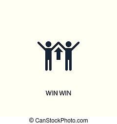 groenteblik, web, gebruikt, winnen, zijn, symbool, concept, illustration., icon., design., element, eenvoudig