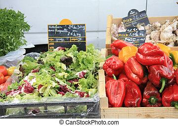 groentes, alhier, franse , markt