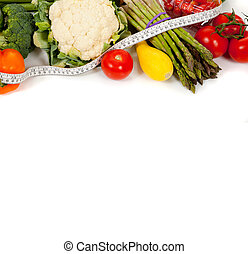 groentes, cassette, witte , roeien