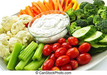 groentes, en, onderdompeling