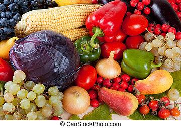 groentes, en, vruchten