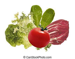 groentes, ingredienten, vrijstaand