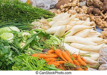 groentes, lokale markt
