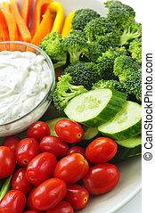 groentes, onderdompeling