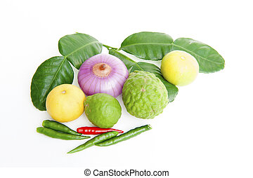 groentes, op, een, witte achtergrond