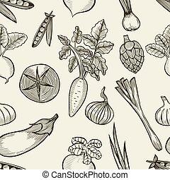 groentes, pattern., seamless