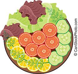 groentes, schaaltje