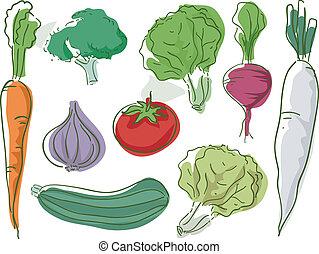 groentes, schets