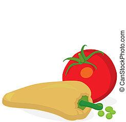 groentes, vector, -, illustratie