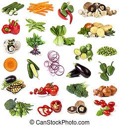 groentes, voedingsmiddelen, collage