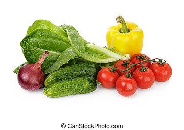 groentes, voor, slaatje