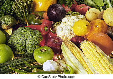 groentes, &, vruchten