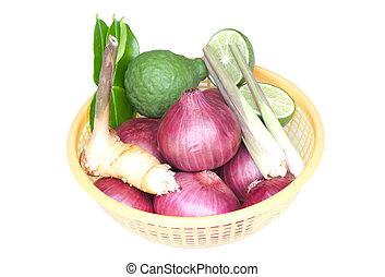 groentes, witte achtergrond