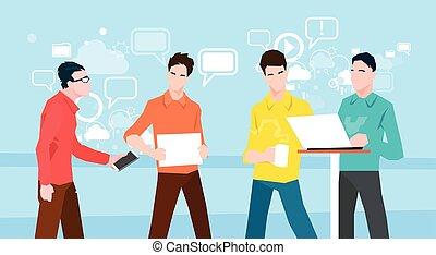 groep, aan het werk werkkring, mensen zaak, coworking, teamwork