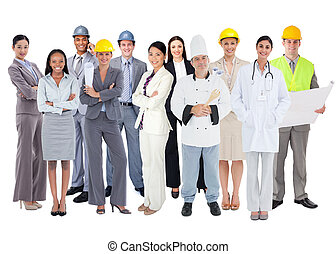 groep, anders, werkmannen