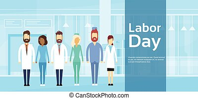 groep, arts, mei, medisch, arbeid, team, vakantie, dag