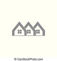 groep, inwoner, symbool, vector, thuis, logo