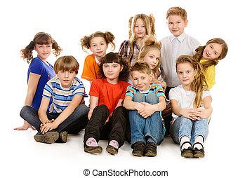 groep, kinderen