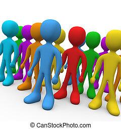 groep, mensen