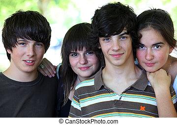 groep, tieners