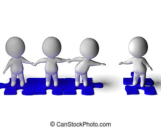 groep, togetherness, optredens, vriendschap, vriend, aansluiting