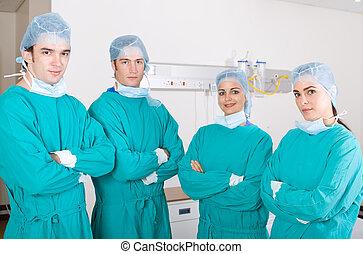 groep, van, artsen
