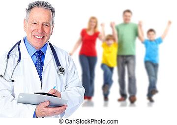 groep, van, medisch, arts.