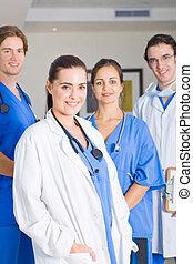 groep, van, medisch, artsen