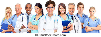 groep, van, medisch, doctors.