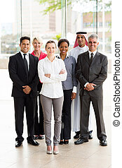 groep, van, multiracial, businesspeople
