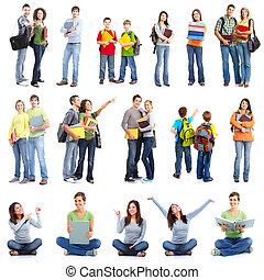 groep, van, students.