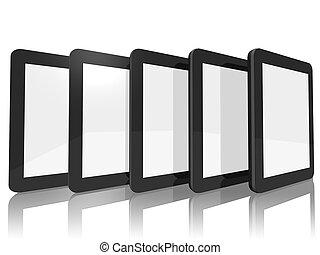 groep, van, tablet, computers