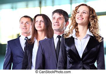 groep, vriendelijk, businesspeople