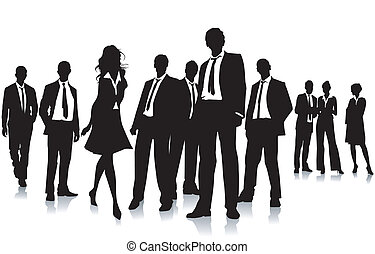 groep, zakenlui