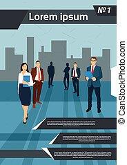 groep, zakenlui, menselijk, team, middelen