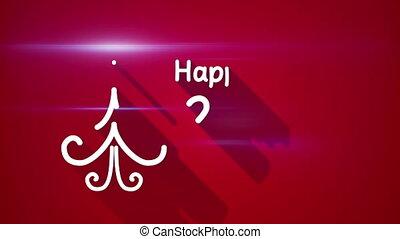 groet, jaar, nieuw, 2016, lus, vrolijke