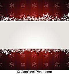 groet, kerstmis, achtergrond, rood