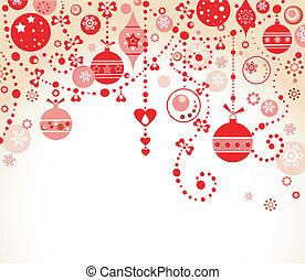 groet, kerstmis kaart, rood