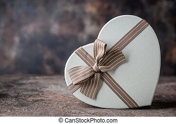 groet, valentine, kaart, dag