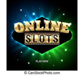 groeven, casino, spandoek, online