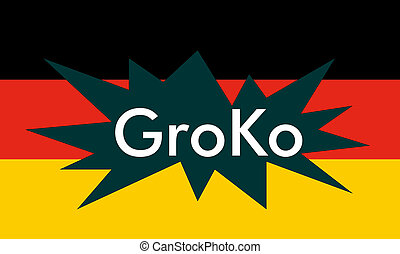 Groko (Grand Coalition) - GroKo, short for Grosse Koalition...