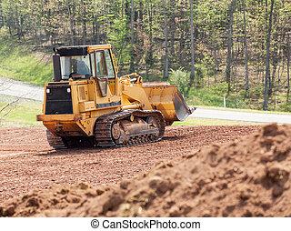 grond verduidelijkend, groot, aarde verhuizer, graver