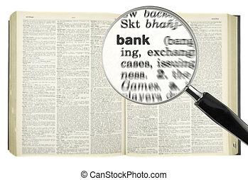 grondig, voor, bank