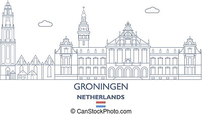 Groningen City Skyline, Netherlands
