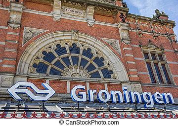 groningen, entrée, station