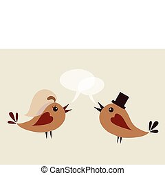 groom bird and wife bird