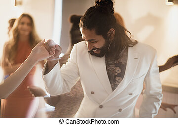Groom Dancing on his Wedding day
